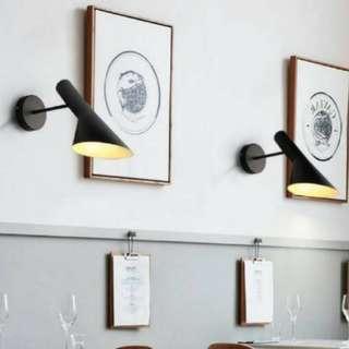 Wall Lamp / Lampu Dinding ( Matte Black)