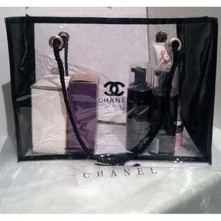 Chanel Vip Large Transparent Makeup Bag