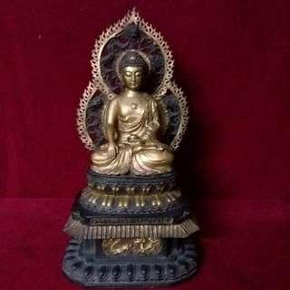 铜鎏金佛祖释迦牟尼坐像 - 明朝