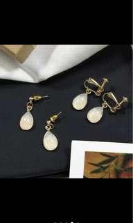 小仙女氣質夾式耳環