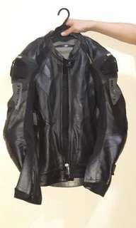 Riding leather jacket