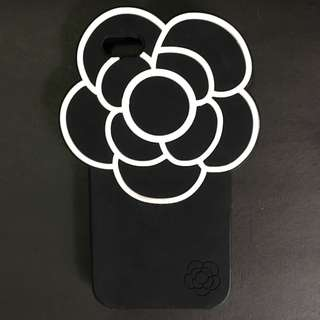Iphone 5/5s Rose Black White Silicone Softcase