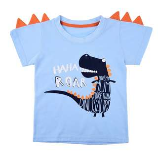 NEW Dinosaur TShirt Blue I love my Mum more than dinosaurs  Available: Size 2, 3, 4, 5, 6