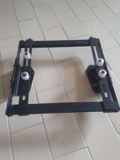 TV wall mount rack