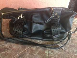 Original Leather bag color black