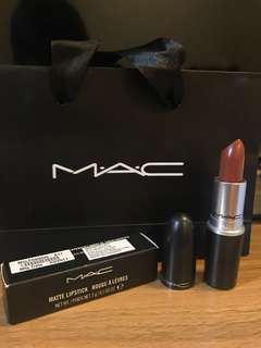 AUTHENTIC MAC MATTE LIPSTICK IN SHADE TAUPE