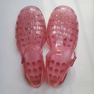 [RUBI] Pink Jelly Shoes Sandal