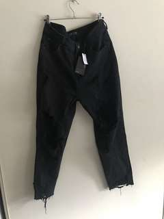 Glassons ripped mom jeans size 12