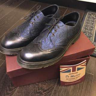 Dr Martens UK edition (Dannon) blue Leather shoes 皮鞋 US9