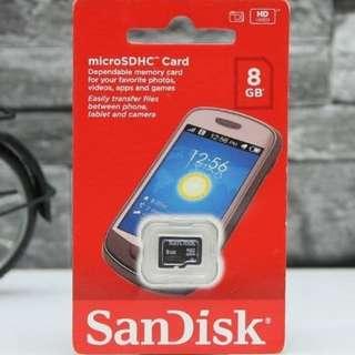 Sandisk Micro SD 8GB Class 4 | Memory Card microSD 8 GB