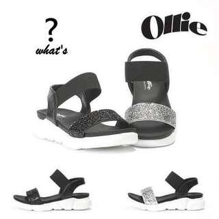 🚚 Korea·Ollie 👡 晶鑽亮片時尚寬帶軟Q涼鞋