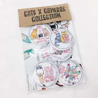 cats x cameras button badges