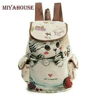 mg bag cat miaw gil  bhn canvas uk 35x40