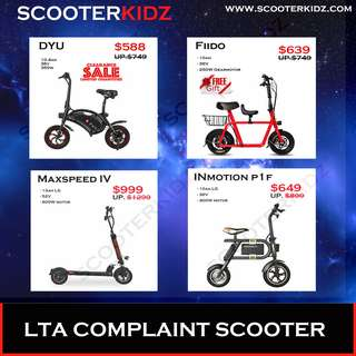 LTA Compliant Scooter ON SALE now [ ScooterKidz ]
