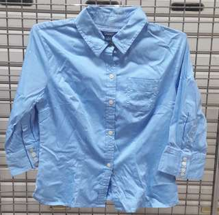 Westbound Blue Stretched Shirt Size S - Kemeja