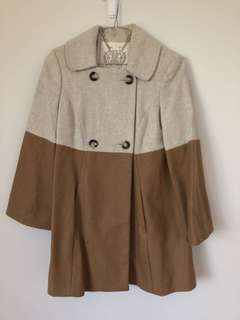 Forever New contrast coat size 6