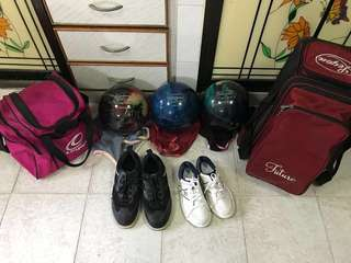 Bowling Set Columbia 300 WD (3 balls + 2 bags + 2 shoes)