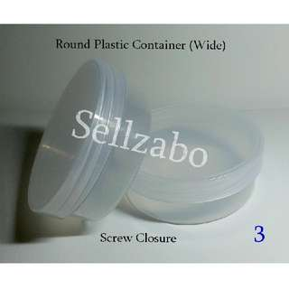 6.4cm : Cases : Casings : Box : Tubs : Containers : Face : Facial : Stuff : Multi Purposes : Storage : Care : Travel Use : Travelling : Portable : Transfer : Transferring : Refill : Refilling : White : See Through : Clear : Round : Sellzabo