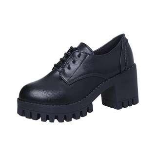 Cosplay Black Platform Shoes