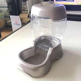 🚚 🐶美國 Petmate CAFE餵食器/S/銀/容量約1.36公斤