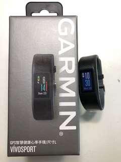 Garmin vivosport GPS健康心率手環 L