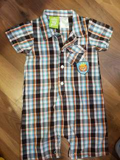 Sesame Street Plaid Outfit (24m)