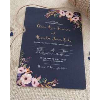 Customized wedding invitation card