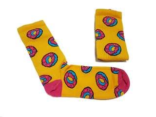 Kaos Kaki Sock Skate Navajo Donat Yellow