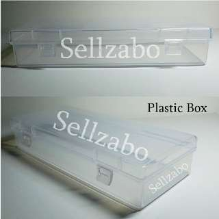 14.8cm : Rectangle : Cases : Casings : Box : Containers : Stuff : Items : Multi Purposes : Storage : Care : Travel Use : Portable : Tools : White : See Through : Clear Colour : Stationery : Stationeries : Sellzabo