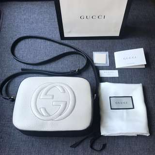 Gucci Disco Bag (Black & White)