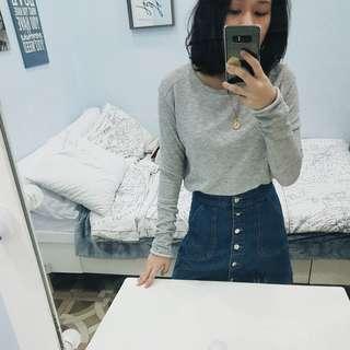 ZARA Gray Long Sweater