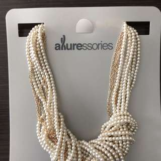 名牌ALLURESSORIES 珍珠頸鏈 Paisley Knotted Pearl Necklace