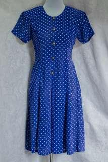 Polka Jumpsuit (citru) #used #jumpsuit #polkadots #blue