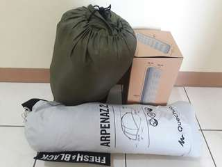 Camping set for sale (Tent, air mattress, sleeping bag)