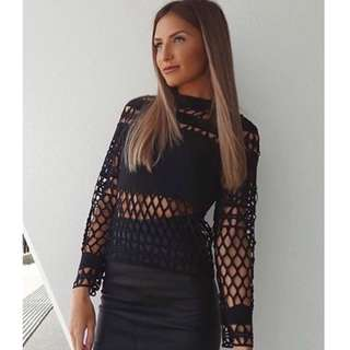 SOLD OUT STYLE Kookai Crown Lace Top in size 38