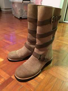 Chanel suede boots size 36.5 (fits 37)