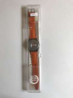 Swatch Orange 24 Hour Watch