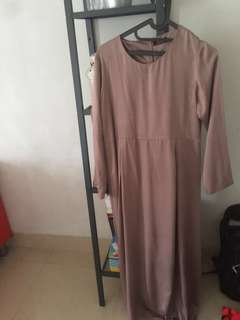 Long dress plus outer