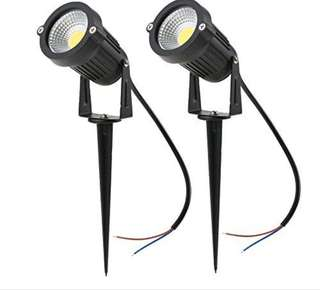 793. Tomshine 5W 3 Pack COB LED Lawn Lamp Spike Lights AC/DC 12V Outdoor Decorative Landscape light 500LM Super Bright High Power Spotlight for Garden Wall Yard Path Warm White