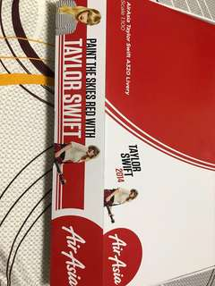*Limited Edition* Airasia Airbus 320 1:100 taylor swift 2014 livery with stand