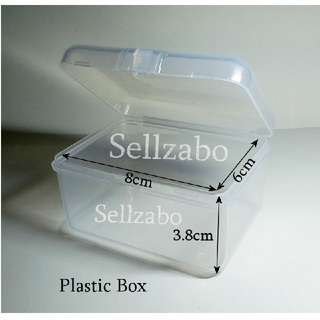 8cm : Rectangle : Cases : Casings : Box : Containers : Plastic : Stuff : Items : Multi Purposes : Storage : Care : Travel Use : Portable : Tools : White : See Through : Clear : Colour : Sellzabo