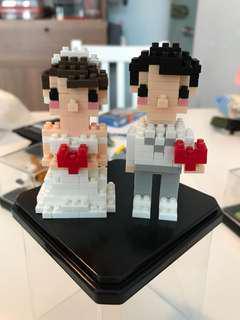 結婚公仔製成品連擺設盒