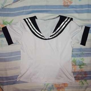 Japan School Uniform Inspired Top