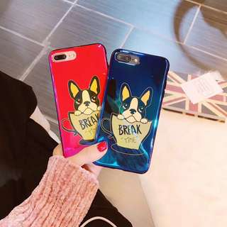 🌼C-1071 New Blu-ray IMD Cup Dog Case for iPhone🌼