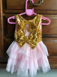 Pink tutu gown for first birthday (brandnew)