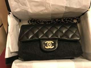 Chanel mini coco 20cm 黑金