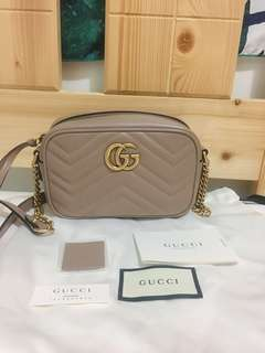 GUCCI GG Marmont matelassé mini camera bag