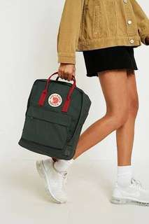 AUTHENTIC FJALLRAVEN KANKEN CLASSIC FOREST GREEN/OX RED