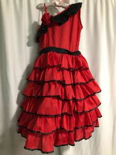 Red Dress (Flamenco/Ms. Spain Costume)
