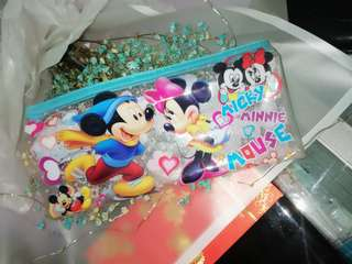 """micky mouse&minnie"" pencil case"